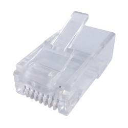 RJ45 CAT6 Crimp End Plugs - Pack of 10